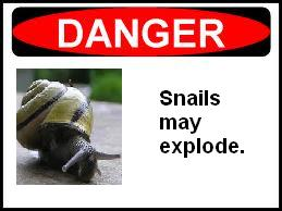 Snail danger sign
