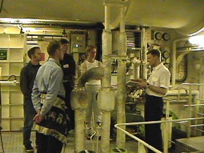 Ships pump room